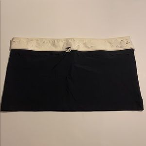 Chanel Black & White Nylon Mini Skirt